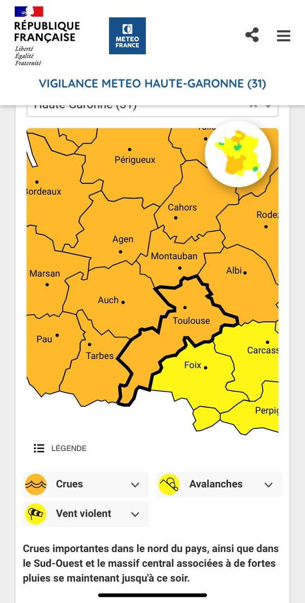 La région Occitanie est particulièrement touchée par ces risques de crues.