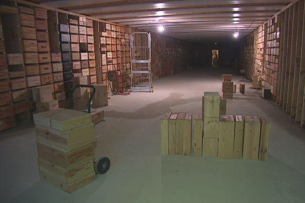 Le musée est situé à trois mètres sous terre.