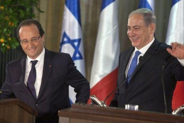 François Hollande et Benjamin Netanyahou en conférence de presse le 17 novembre à Jérusalem