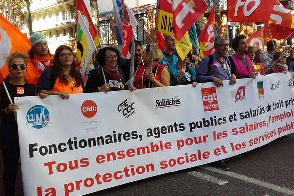 Manifestation des personnels de la fonction publique à Toulouse
