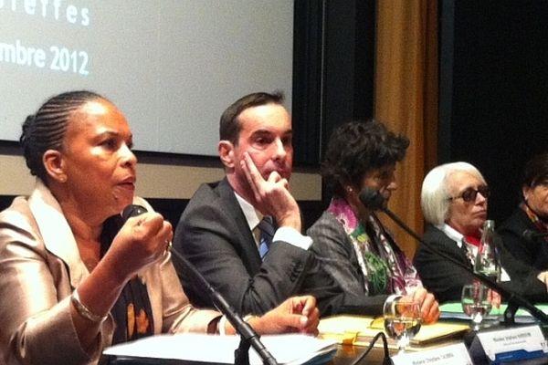 La ministre de la Justice est en déplacement à Dijon jeudi 22 novembre 2012