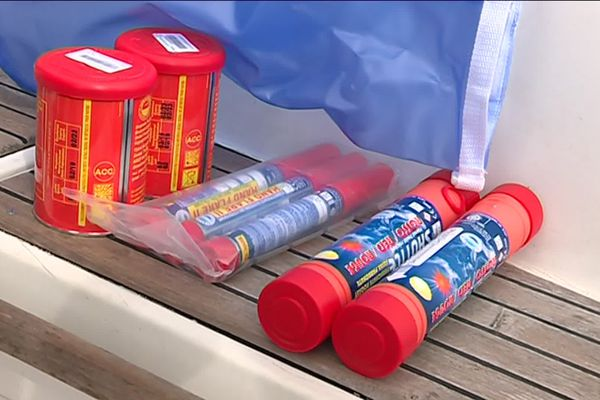 Avant de reprendre la mer, bien s'assurer que les équipements de sécurité    sont à bord...on ne sait jamais !