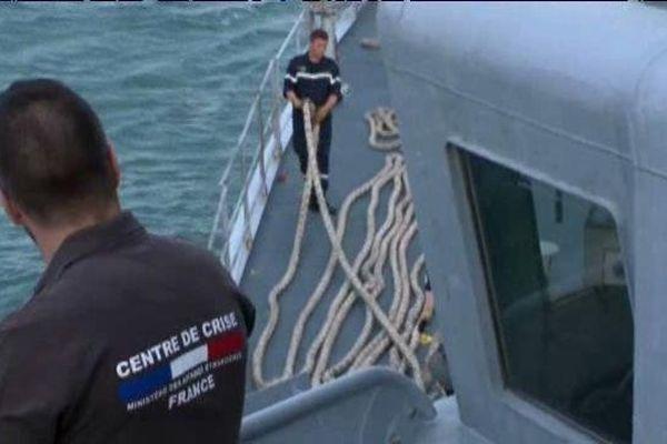 Départ de la frégate anti-sous-marine Montcalm mardi de Toulon.