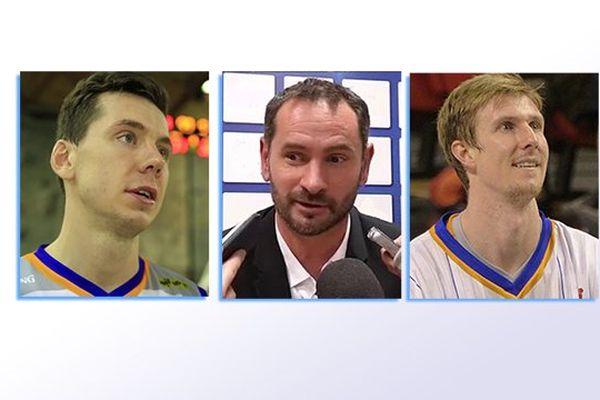 Edouard Choquet (CCRB), Cédric Heitz (l'Etoile de Charleville) et Mark Payne (CCRB).
