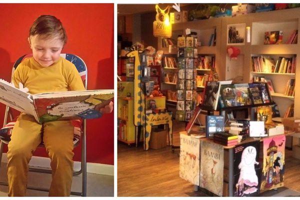 Siméo passe beaucoup de temps dans cette librairie indépendante.