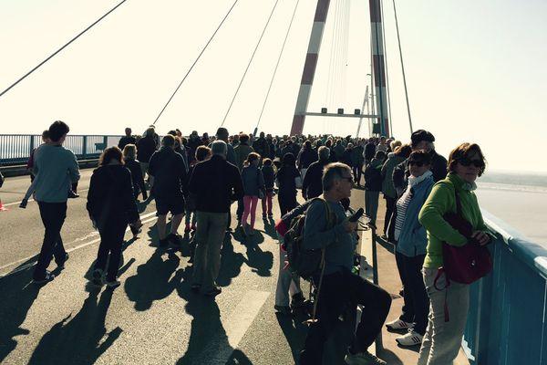 Le pont de Saint-Nazaire exceptionnellement piéton pour fêter ses 40 ans