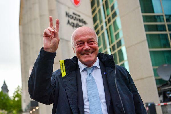 Alain Rousset, vainqueur de l'élection régionale en Aquitaine, dimanche 27 juin 2021. Il distance très largement le Rassemblement National