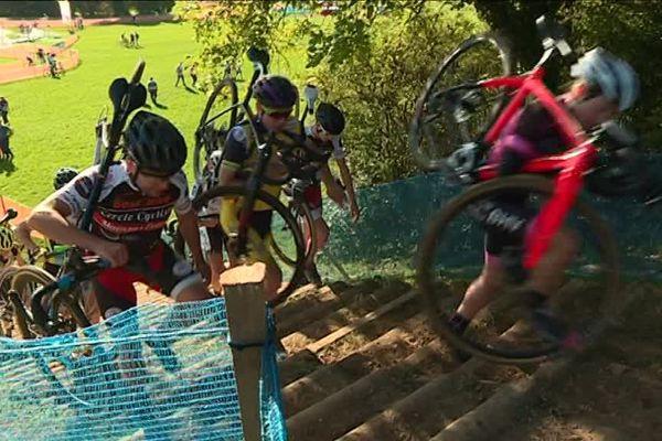 Coupe de France cyclo cross : reconnaissance du parcours à Besançon