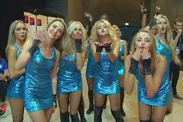 Montpellier - les Pom-pom girls de l'Euro de basket - 2015