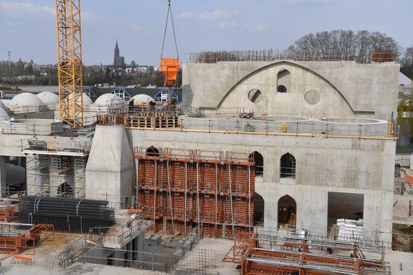 La mosquée Eyyub Sultan en construction à Strasbourg