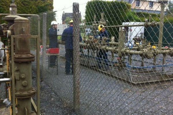 C'est dans ce point de distribution que les tuyaux de cuivre ont été volée, privant de gaz toute la ville de Péronne et alentours.