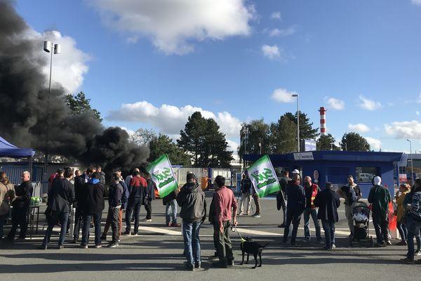 Les salariés de Michelin à La Roche-sur-Yon, le 10 octobre 2019