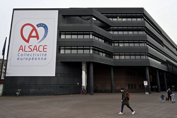 Le hall de l'Hôtel du département situé à Strasbourg va accueillir un grand vaccinodrome à compter du mois de juin après une première session de vaccination du 2 au 4 mai