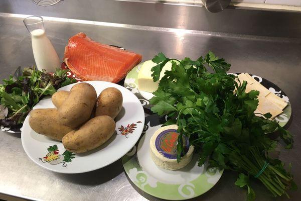 Ingrédients pour le pâté de pommes de terre à la façon du chef creusois Pïerre Rullière