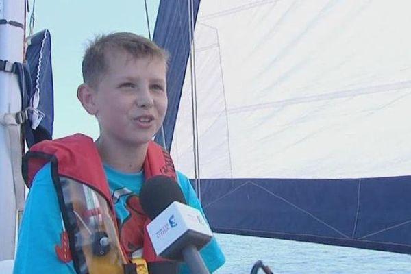 Thomas Rousseau, 13 ans et demi, au large d'Ajaccio, le 16 juin 2013