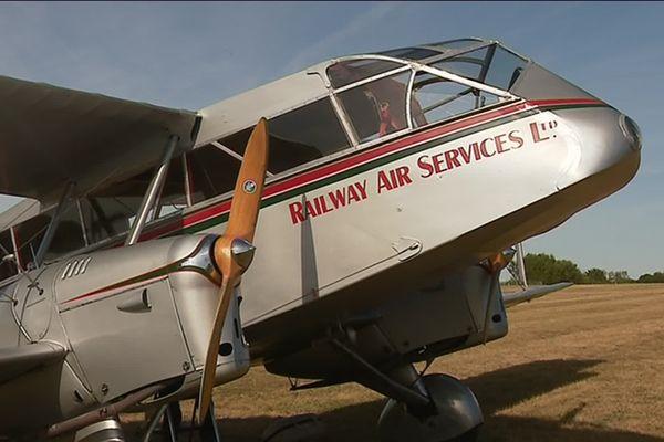 Un Havilland 84 Dragon Anglais de 1932 présent à Saint-Junien ce week-end.