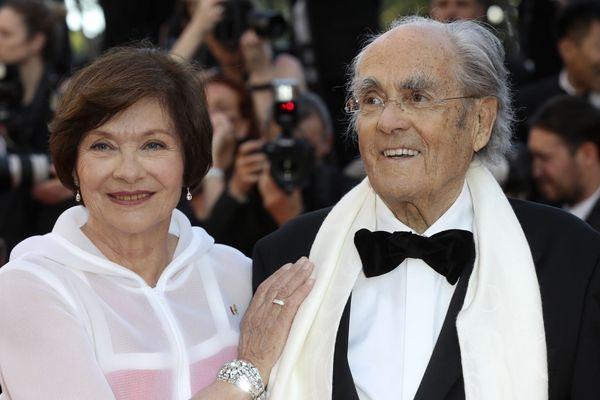 L'actrice Macha Meril et le compositeur Michel Legrand, qui est décédé en janvier 2018, posaient ensemble au Festival de Cannes en 2017.