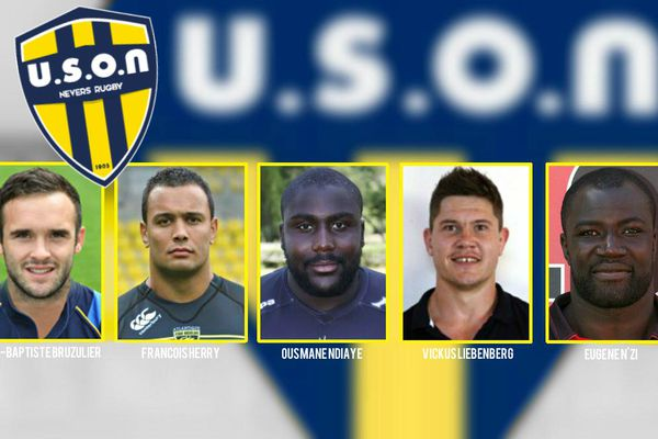 Nouveau logo et 5 recrues à l'USON Nevers Rugby.