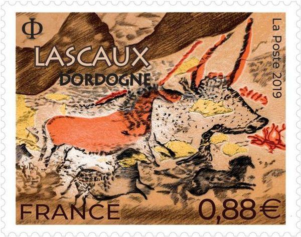 Le nouveau timbre représentant les peintures de Lascaux sera disponible à partir du 29 avril