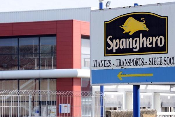 Castelnaudary (Aude) - l'entreprise Spanghero - février 2013.