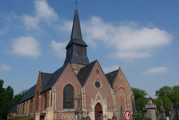 L'église Saint-Martin du village de Terdeghem