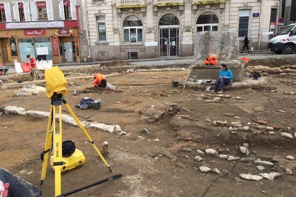 Le chantier de fouilles en février 2021