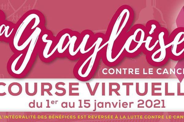 La course la Grayloise, au profit des personnes atteintes d'un cancer, se tiendra virtuellement jusqu'au 14 mars 2021 et non jusqu'au 15 janvier comme initialement prévue.