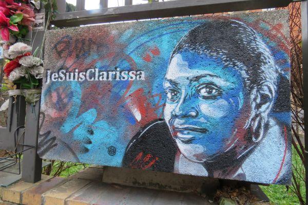 Un portrait de Clarissa Jean-Philippe réalisé par l'artiste C215.