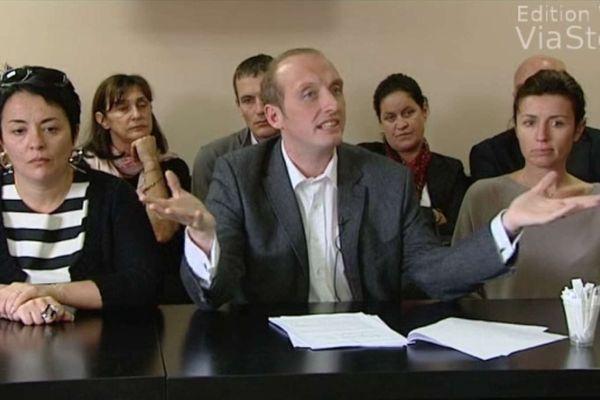 Laurent Marcangeli, candidat UMP à la mairie d'Ajaccio, le 12 octobre 2013