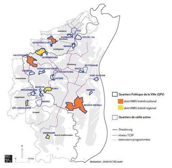 Dans l'Eurométropole, sept quartiers prioritaires ont été retenus par l'Agence nationale de rénovation urbaine