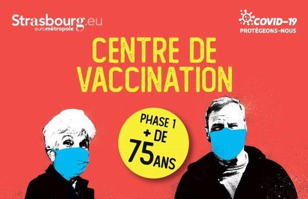 La ville de Strasbourg ouvre un centre de vaccination COVID-19 Salle de la Bourse, à partir du lundi 18 Janvier