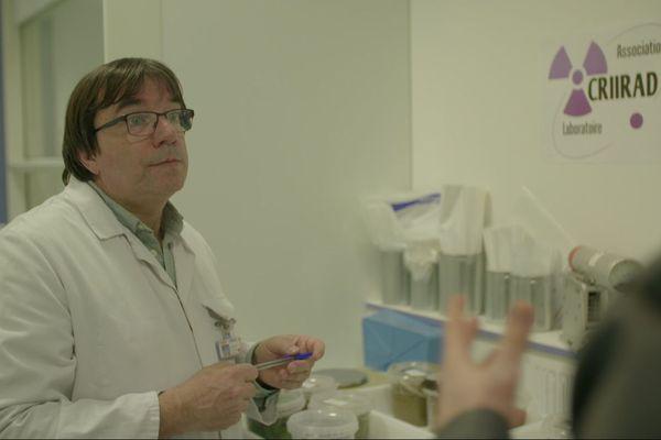 Bruno Chareyron, responsable du laboratoire de la CRIIRAD