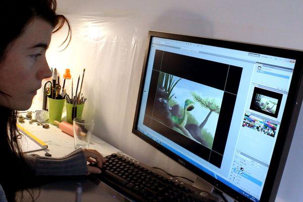 Myriam dessine et anime tous les contes, c'est elle aussi qui assure le montage final