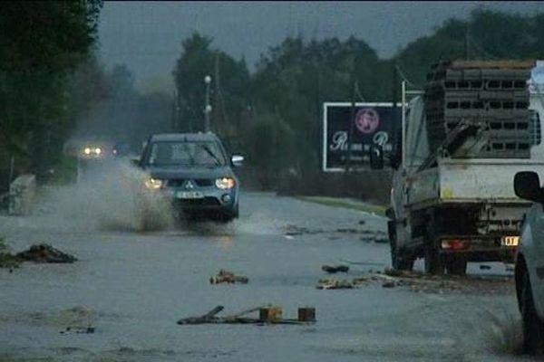 De fortes pluies se sont abattues dans les environs de Ponte-Leccia.