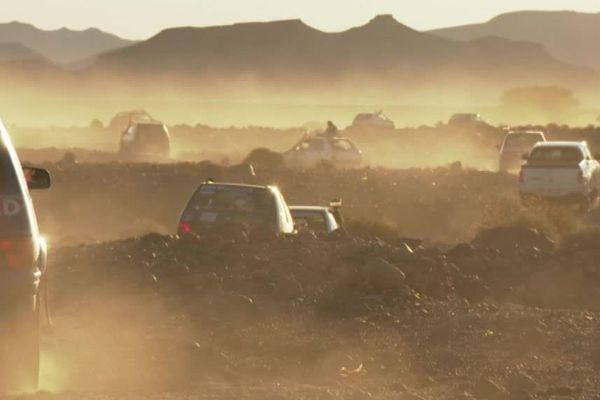 Les voitures Peugeot 205 ont sillonné les paysages du Maroc.
