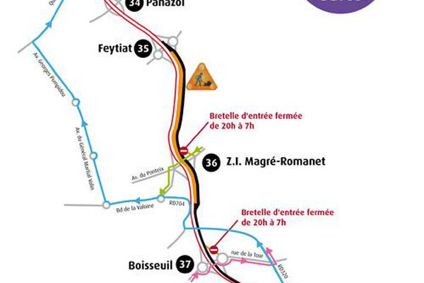 L'A20 sera fermée jusqu'au 29 mai prochain, de 20h00 à 7h00 du matin, entre les échangeurs n)38 et 35 dans le sens Province-Paris