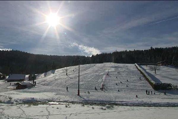 Le domaine du Grand Valtin en cette première semaine de vacances scolaires d'hiver 2016