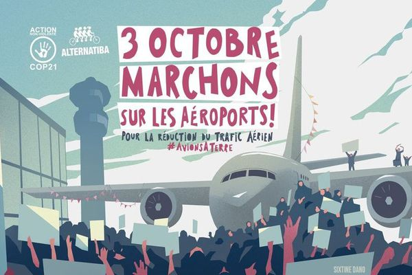 Alternatiba et Cop21 appellent à marcher sur les aéroports.