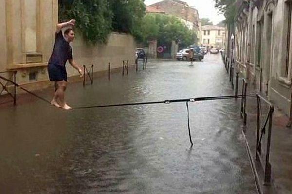 Montpellier - les plus sportifs font de l'équilibre - 29 septembre 2014.