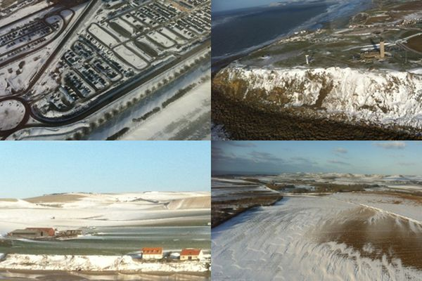 Quatre photos du Nord Pas-de-Calais vu du ciel ce mardi après-midi.