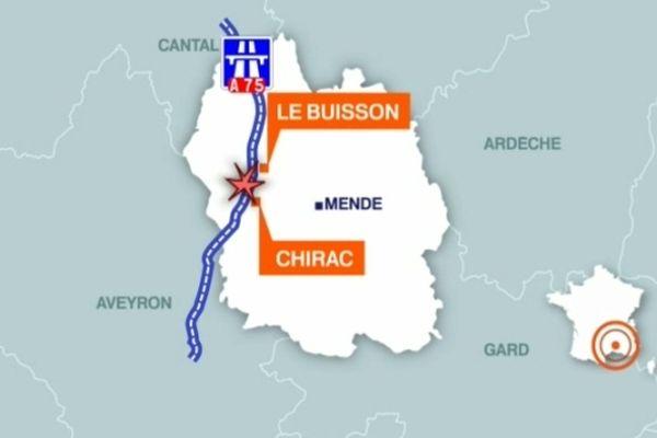Deux accidents mortels vers 20 h 00 à Chirac et le Buisson