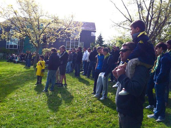 Les supporters ce dimanche à la Jonelière.