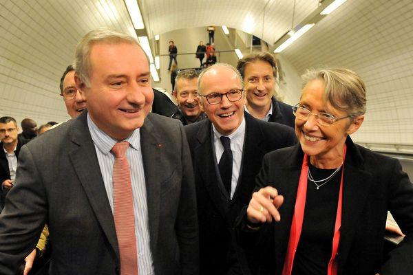 Jean-Luc Moudenc, maire de Toulouse, et la ministre des Transports, Elisabeth Borne