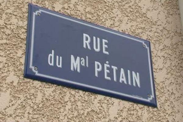 La rue du Maréchal Pétain, à Belrain