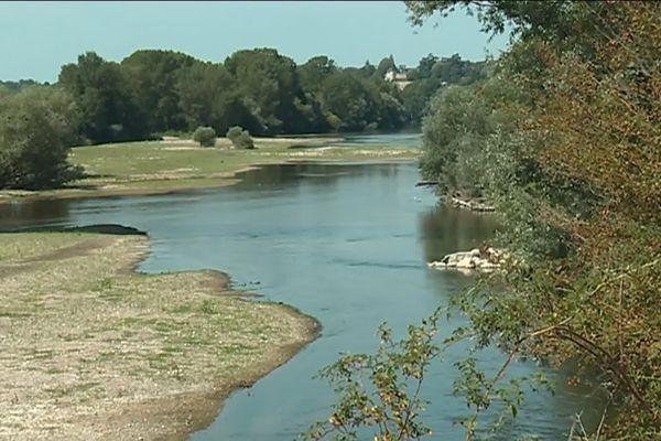 Le niveau de la Loire est devenu trop bas pour pomper de l'eau à Vouvray et Vernou-sur-Brenne.