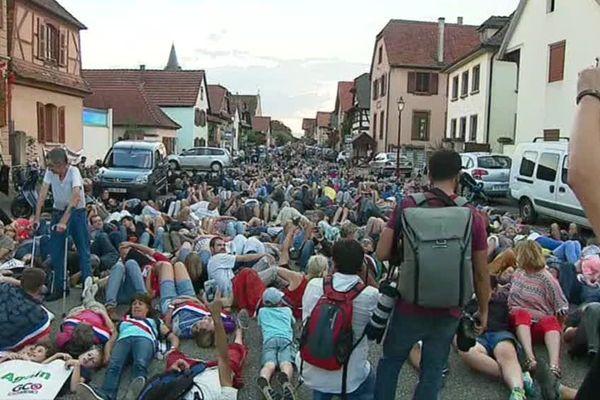 Lay-in devant la mairie de Kolbsheim