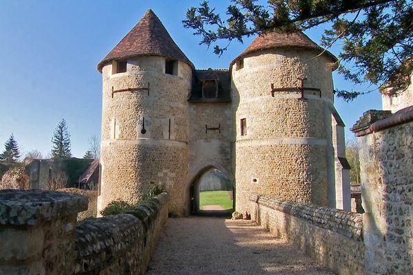Dans le parc du château d'Harcourt (Eure)