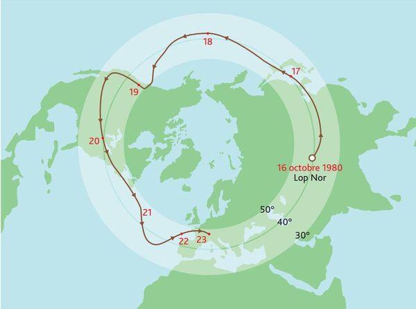 Le 28 septembre 1976, le panache radioactif consécutif à l'essai nucléaire chinois du 17 septembre 1976 atteint la France.