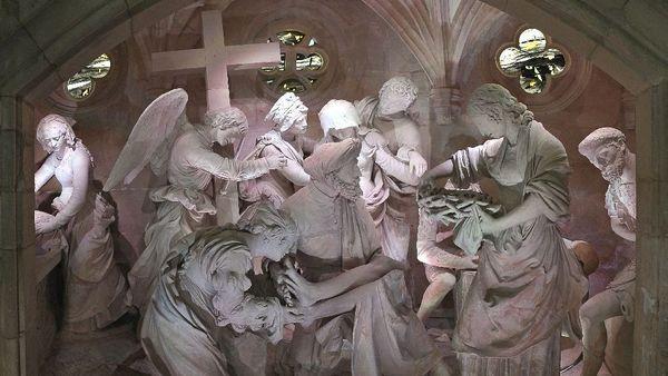 A Saint-Mihiel, l'église Saint-Etienne  renferme une oeuvre majeure du sculpteur Ligier Richier.