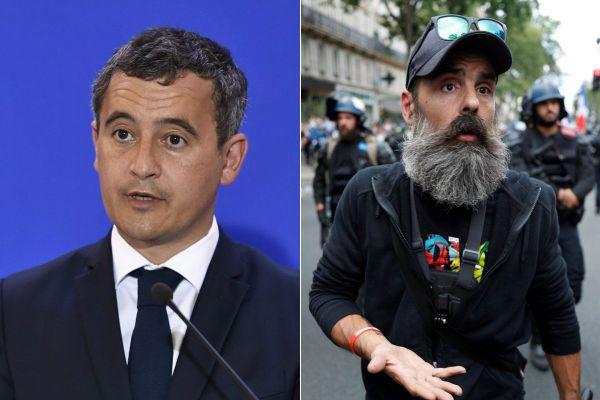 """Gérald Darmanin a annoncé sur Twitter qu'il portait plainte contre le """"Gilet Jaune"""" Jérôme Rodrigues pour des propos tenus sur Twitter."""